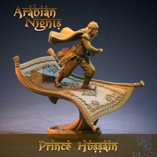 3D Print: Prince Hussain on magic carpet