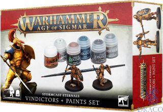 Age Of Sigmar: Stormcast Eternals - Vindictors + Paints Set