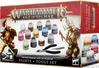 Age Of Sigmar: Paints + Tools Set