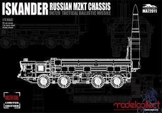 Russian 9K720 Iskander-M Tactical Ballistic Missile MZKT Chassis 1/72 [ModelCollect]