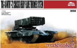 TOS-1A Heavy Flame Thrower System W/T-72 Chassis 1/72 [ModelCollect]