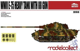 WWII E-75 Heavy Tank with 88mm gun 1/72 [ModelCollect]