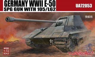 Germany WWII E-50 SPG Gun with 105/L62 1/72 [ModelCollect]