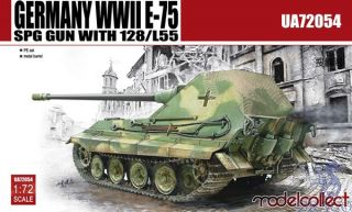 Germany WWII E-75 SPG Gun with 128/L55 1/72 [ModelCollect]