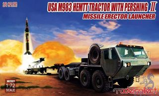 USA M983 HEMTT Tractor with Pershing II Missile Erector Launcher 1/72 [ModelCollect]
