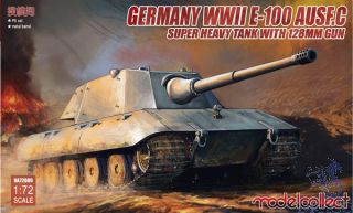 Germany WWII E-100 Ausf.c Super Heavy Tank with 128mm Gun 1/72 [ModelCollect]