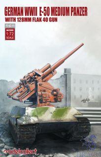 German WWII E-50 Medium Panzer with 128mm Flak 40 Gun 1/72 [ModelCollect]