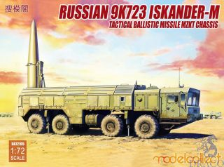 Russian 9K723 Iskander-M Tactical Ballistic Missile MZKT Chassis 1/72 [ModelCollect]