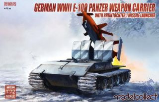 German WWII E-100 Weapon Carrier with Rheintochter R1 Missile Launcher 1/72 [ModelCollect]