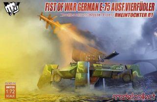 Fist of War German E75 Ausf.vierfussler Rheintochter 1 1/72 [ModelCollect]