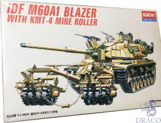 IDF M60A1 Blazer with KMT-4 mine roller 1/35 [Academy]