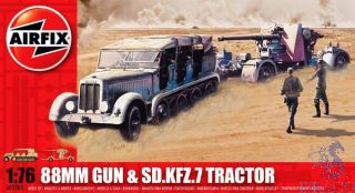 88mm Gun & SD.KFZ.7 Tractor 1/76 [Airfix]