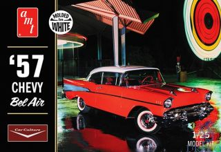 1957 Chevy Bel Air (molded in white) 1/25 [AMT]