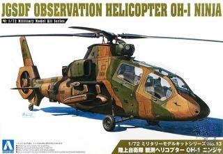 JGSDF Observation Helicopter OH-I Ninja 1/72 (Military Model Kit #13) [Aoshima]