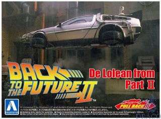 Back To The Future II - Delorean From Part II - Pullback 1:43 [Aoshima]