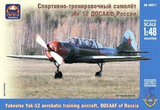 "Yakovlev Yak-52 Aerobatic Training Aircraft, DOSAAF of Russia ""Maestro"" 1/48 [ARK Models]"
