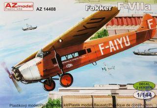Fokker F-VIIa  1/144 [AZmodel]