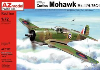 Curtiss Mohawk Mk.III/H-75C1 1/72 [AZmodel]