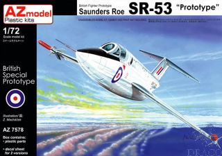 """British Fighter Prototype Saunders Roe SR-53 """"Prototype"""" (Limited Edition) 1/72 [AZmodel]"""