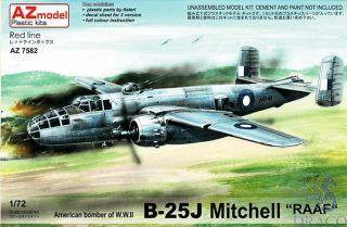 """American Bomber of W.W.II B-25J Mitchell """"RAAF"""" 1/72 [AZmodel]"""