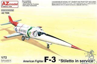 """American Fighter X-F """"Stiletto in Service"""" 1/72 [AZmodel]"""