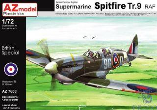British Famous Fighter Supermarine Spitfire Tr.9 RAF 1/72 [AZmodel]