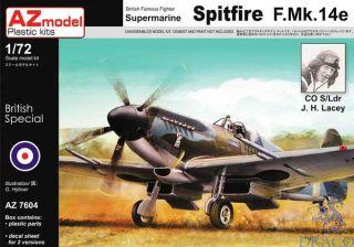 British Famous Fighter Supermarine Spitfire F.Mk.14e 1/72 [AZmodel]