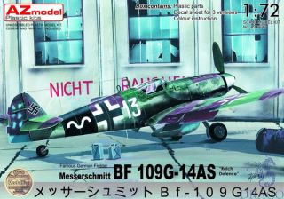 """Famous German Fighter Messerschmitt Bf 109G-14AS """"Reich Defence"""" (reed 2020) 1/72 [AZmodel]"""
