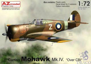 """Curtis Mohawk Mk.IV """"Over CBI"""" 1/72 [AZmodel]"""