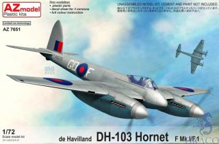 de Havilland DH-103 Hornet F Mk.I/F.1 1/72 [AZmodel]
