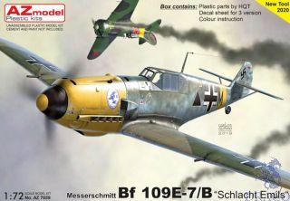 """Bf 109E-7 """"Schlacht Emils"""" 1/72 [AZmodel]"""