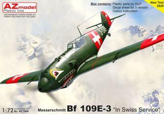 """Messerschmitt Bf 109E-3 """"In Swiss Service"""" 1/72 [AZmodel]"""