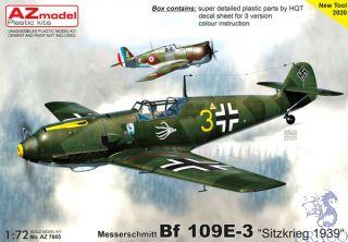 """Messerschmitt Bf 109E-3 """"Sitzkrieg 1939"""" 1/72 [AZmodel]"""