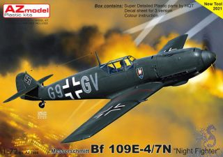 """Messerschmitt Bf 109E-3/7N """"Night Fighter"""" 1/72 [AZmodel]"""