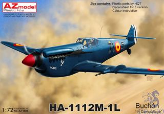 "HA-1112M-1L Buchón ""In Camouflage"" 1/72 [AZmodel]"