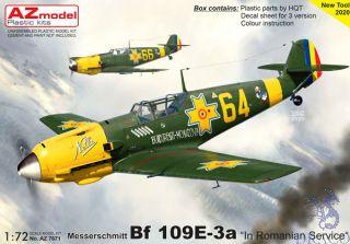 """Messerschmitt Bf 109E-3a """"In Romanian Service"""" 1/72 [AZmodel]"""