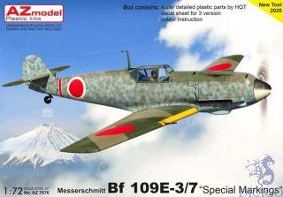"""Messerschmitt Bf 109E-3/7 """"Special Markings"""" 1/72 [AZmodel]"""