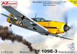 "Messerschmitt Bf 109E-3 ""Bulgarian Eagles"" 1/72 [AZmodel]"