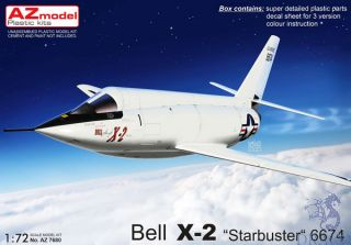 """Bell X-2 """"Starbuster"""" 6674 1/72 [AZmodel]"""