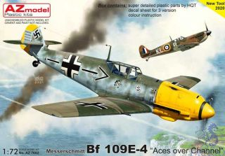 """Messerschmitt Bf 109E-4 """"Aces Over Channel"""" 1/72 [AZmodel]"""