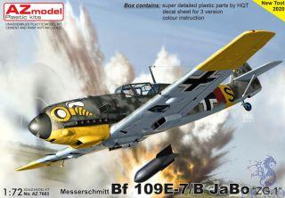 "Messerschmitt Bf 109E-7/B JaBo ""ZG.1"" 1/72 [AZmodel]"