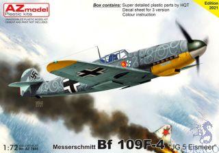 """Messerschmitt Bf 109F-4 """"JG.5 Eismeer"""" 1/72 [AZmodel]"""