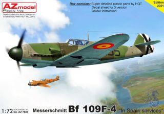 "Messerschmitt Bf 109F-4 ""In Spain Services"" 1/72 [AZmodel]"