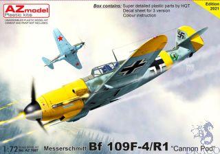 "Messerschmitt Bf 109F-4/R1 ""Cannon Pod"" 1/72 [AZmodel]"