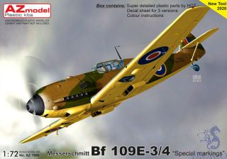 """Messerschmitt Bf 109E-3/4 """"Special Markings"""" 1/72 [AZmodel]"""