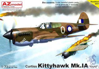 """Curtiss Kittihawk Mk.IA """"RAAF"""" 1/72 [AZmodel]"""