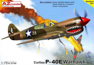 "Curtiss P-40E Warhawk ""AVG"" 1/72 [AZmodel]"