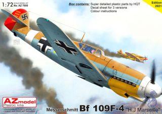 """Messerschmitt Bf 109F-4 """"H.J Marseille"""" 1/72 [AZmodel]"""