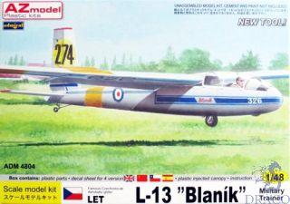"Famous Czechoslovak Acrobatic Glider LET L-13 ""Blaník"" Military Trainer 1/48 [AZmodel]"