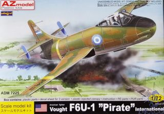 "American Fighter Vought F6F-1 ""Pirate"" International ""What if"" 1/72 [AZmodel]"